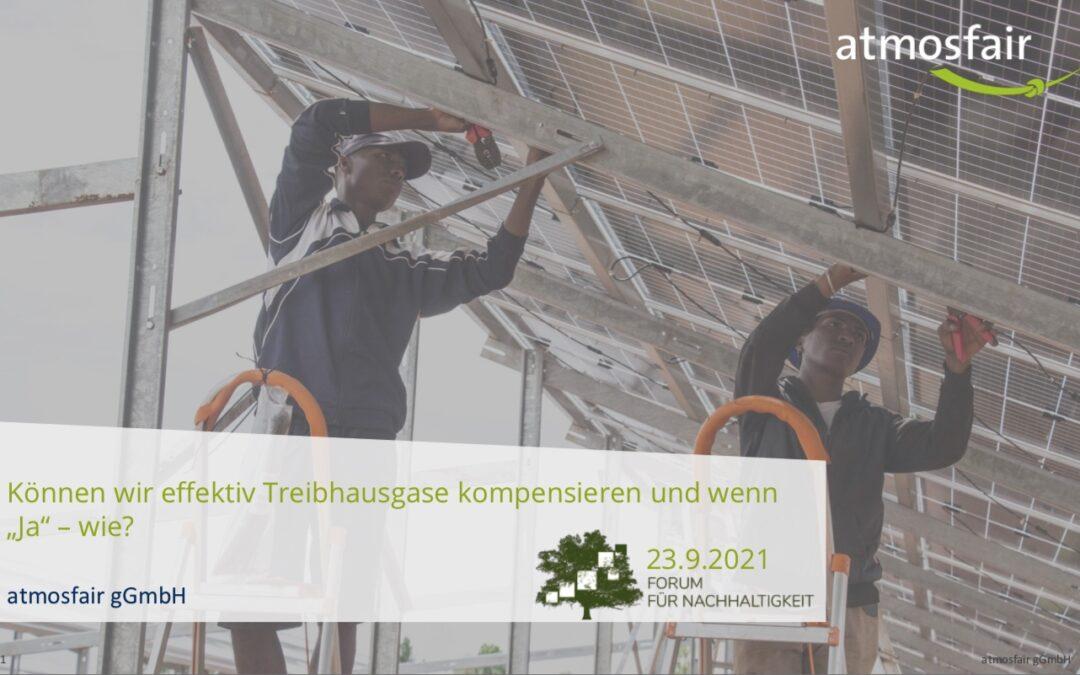 Verantwortung für's Klima anstatt lediglich Zertifikatekauf